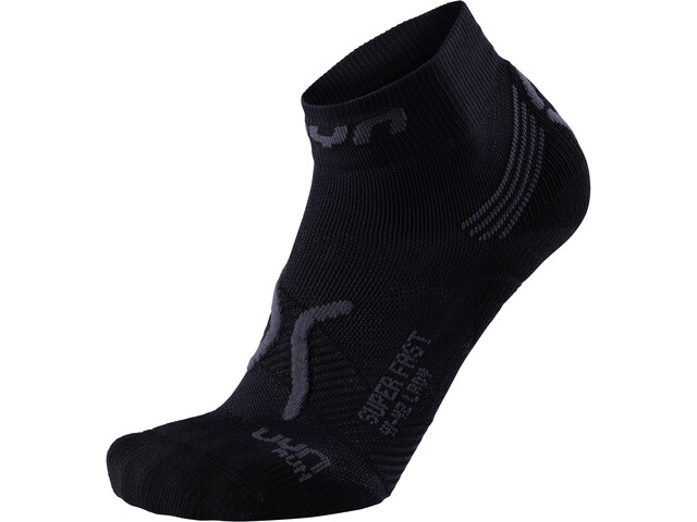 UYN Run Super Fast Calcetines Mujer, black/anthracite